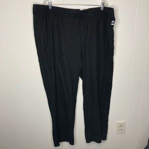 NWT Old Navy BLACK wide leg linen pants. Size XXL